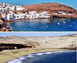 Playa de Tufia y AguaDulce